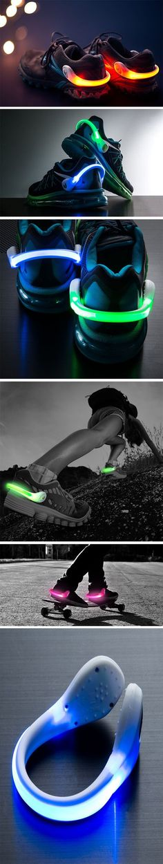 As flashy (literally) as they may look, the Power Spurz were designed to be a signal of sorts, letting you be visible to people nearby as you walked, jogged, trekked, or cycled around. Made to bend around your heel and fit onto any shoe of any size, the Spurz come in a wide variety of colors and can be configured to either flash a steady light or blink continuously. BUY NOW!
