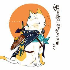 – The Legend of Zelda – - Süße Katzen Art Et Illustration, Cat Illustrations, The Legend Of Zelda, Crazy Cats, Japanese Art, Asian Art, Cat Art, Art Reference, Chibi