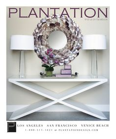 white console table @plantationdesign love this vignette