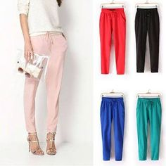 Harem Pants. I prefer the slimmer fit harem's like these. Yes! Harems for Spring! :)
