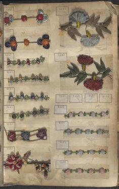 Lobre Frères, Lyons - Sample book of trims, 1800