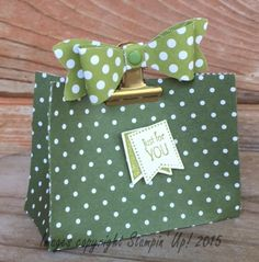 StampinTX: Treat Bag with a Bow