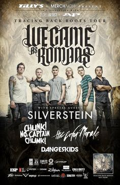 NYC Ticket Giveaway: Win a Pair of tickets to Tracing Back Roots Tour with We Came As Romans, Silverstein, Chunk No Captain Chunk, The Color Morale and Dangerkids