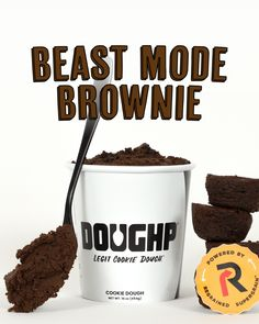 Rich chocolate cookie dough made with Regrained Supergrain+ and filled with chocolate chips and brownie bites. It has double the protein and 6x more fiber! Chocolate Cookie Dough, Chocolate Chips, Brownie Bites, Perfect Cookie, Heat Treating, Protein, Fiber, Treats, Cookies
