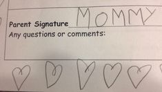 5 year old's attempt to forge my signature. Nailed it.