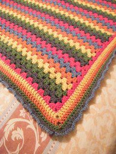 My Granny Stripe crochet blanket