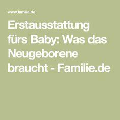 Erstausstattung fürs Baby: Was das Neugeborene braucht - Familie.de