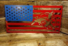 American flag duck scene