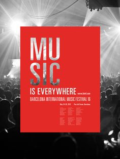 Music Is Everywhere by Chad Phillips, via Behance