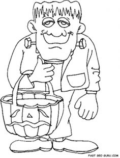 printable halloween frankenstein coloring pages printable coloring pages for kids
