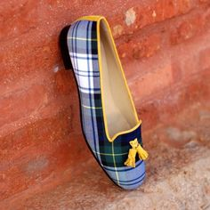 Customize your own pair of bespoke shoes or get inspired by our design repository with hundreds of handmade shoes Tool Design, Low Heels, Calf Leather, Blue Yellow, Casual Shoes, Fashion Shoes, Chf, Stylish, Slipper