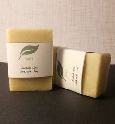 This Rosemary Tea Tree soap was handmade with salt brine, known as soleseife. Soleseife soap has an amazing effect on oiliness or sweat. The soap leaves an invisible moisture-absorbing layer so that skin is less oily or sweaty throughout the day (hooray for extending the life of your makeup!). This vegan soap is also superfatted so that it doesn't dry out the skin. This special palm free product makes a fantastic summertime face wash.