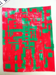 Complimentary Color Scheme by student (red and green)