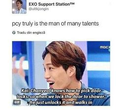 Park Chanyeol the man of many talents   EXO
