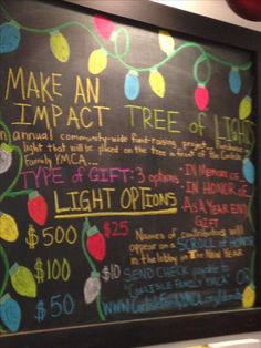 Board to promote tree of lights fund raising campaign