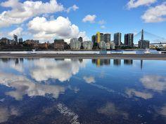 Big Sky In Pyrmont by Tomislav Vucic on Big Sky, Sydney Australia, Original Image, Towers, New York Skyline, Reflection, Clouds, River, Landscape
