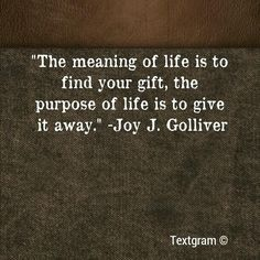 The Meaning vs the Purpose of Life