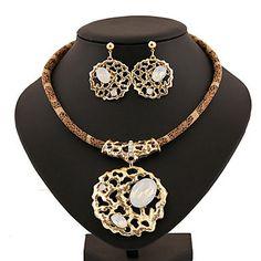 Collar/Pendiente ( Aleación/Zirconia Cúbica/Acrílico/Piedra Preciosa y Cristal )- Vintage/Fiesta/Trabajo/Casual para Mujer de SOYUNICA en Etsy