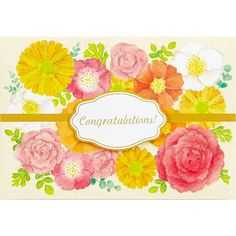 Flower Wreath - Congratulations - Greeting Card #Sanrio #Congratulations