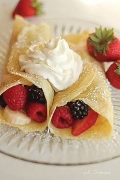The best recipe for a lazy Saturday morning, these breakfast crepes are divine. Eat straight from the pan or fill them with fresh fruit and powdered sugar.