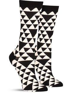 Bamboo Triangles Socks