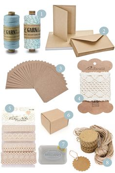 Kraftpapier Karten kaufen Shop Hochzeit