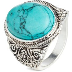 Ring $9.99 (9.64 CHF) ❤ liked on Polyvore featuring jewelry, rings, marble ring, beaded jewelry, beaded rings, marble jewelry and beads jewellery