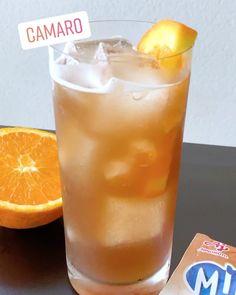 O drink CAMARO chegou! Uma mistura de sabores usamos refresco Mid de guaraná mel vodka e laranja. Marca um amigo pra conhecer o mais novo drink da galera. #bebidaliberada #drinkcamaro #misturadesabores1 #drink #drinks #coquetel #midguarana #bartender #refresco #verao Vodka, Pint Glass, Instagram, Tableware, Desserts, Food, Cocktail, Honey, Recipes