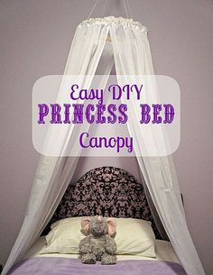 Ordinaire Sarah Vanderkooyu0027s Discussion On Hometalk. DIY Bed Canopy   Create An Easy,  No Sew, Canopy For A Little Girlu0027s Princess Bed.