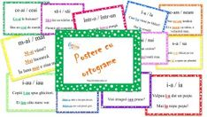 postere cu ortograme Grammar Games, Grammar Activities, Teaching Grammar, Parts Of Speech, Haiku, Periodic Table, Diagram, Bullet Journal, Classroom