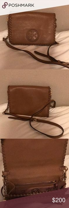 f65d574065d Tory Burch Marion Brown Crossbody Worn once! Perfect condition comes with dust  bag! Tory