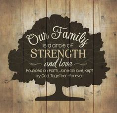 Celebrate Christmas - Our Family is A Circle of Strength and Love WALL Art