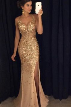 Mermaid Prom Dress, Charming Prom Dress, Gorgeous Prom Dress, Slit Prom Dress, Long Prom Dress, Special Occasion Gowns,