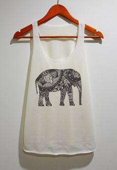 Elephant Tank Top Tunic TShirt Singlet Vest Women Tank Sleeveless