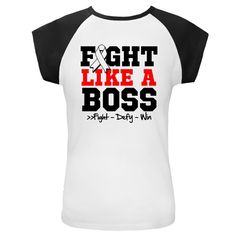 "Lung Cancer Fight Like a Boss White and Black Cap Sleeve  featuring a sporty design with an awareness ribbon and the powerful motto: fight, defy and win.To fight like a boss is to own it with confidence and perseverance like a boss!  Bella Womens White/Pink Cap Sleeve Raglan T-Shirt. Pre-shrunk 100% combed ringspun cotton 5.8 ounce ladies' 1×1 baby rib knit raglan t-shirt. Contrast color cap sleeves and 3/8"" neck binding. Side-seamed for a fashionable custom contoured fit.  Ladies: S, M, L…"