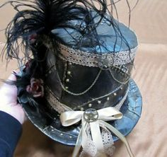 The lady's version of the duct tape Steampunk hat! shadowbinders.com