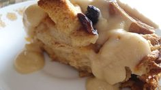 BEST sauce for bread pudding ... Vanilla Sauce! (*don't let sauce boil & add vanilla with sauce completely off the heat! ... And I didn't use flour in the sauce)
