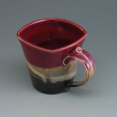 Pottery Mug Plum Red Brown Porcelain by Mark Hudak by MarksPottery, $27.00