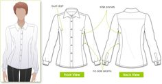 Sara Blouse sewing pattern