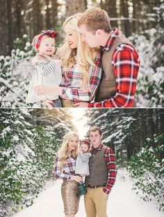 Stunning winter family portrait session | Each of these images would make a stunning Christmas card photo