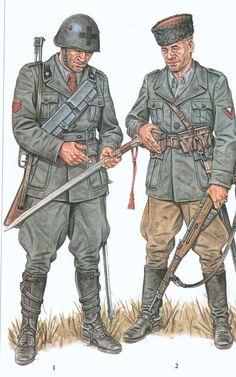 unidad de Cosacos en el Ejercito italiano apostado en el frente Ruso, gruppo Autonomi Cosschi Savoia.