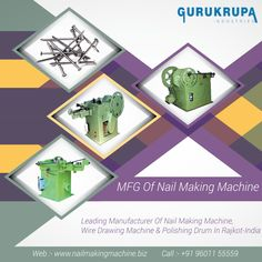 Gurukrupa Industries has the expertise in making wire nail making machine of different configurations. We always upgrade the features and specs of these machines to keep pace with latest technology.