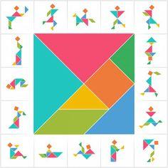 Giochi estivi per bambini, il tangram per inventare le figure con fantasia