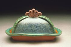 Sandi and Neil click the image or link for more info. Ceramic Clay, Ceramic Plates, Ceramic Pottery, Pottery Art, Aqua, Turquoise, Pottery Designs, Pottery Ideas, Ceramic Butter Dish