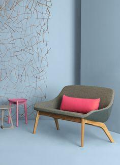 Small #sofa MORPH DUO LOUNGE by ZEITRAUM   #design Formstelle @zeitraum