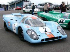 Gulf Porsche 917. Steve McQueens Lemans car. One lap, please..tha'ts all I want.
