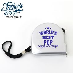 Tape Measure World's Best Grandpa Fathers Day Stall Fundraising Gift. Wholesale fathers day items and school fundraising items, perfect for fathers day stall and good markup. Worlds Best Dad, School Fundraisers, Tape Measure, Fundraising, Fathers Day, Gifts, Ideas, Favors, Presents