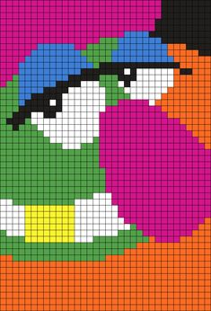 Dr.Teeth (from The Muppets) Perler Bead Pattern / Bead Sprite
