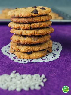 Galletas de arroz, coco y chocolate SIN GLUTEN.  Gluten free cookies.  La Cocina de Virginia.