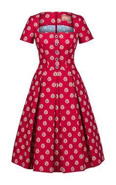 Provence bouquet cherry dress by fashion 5 LENA HOSCHEK for Preorder on Moda Operandi African Dresses For Women, African Print Dresses, African Print Fashion, Africa Fashion, African Attire, African Wear, African Fashion Dresses, Shweshwe Dresses, Cherry Dress